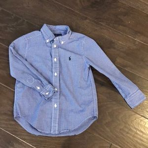 Ralph Lauren blue and white button down